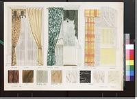 Brocade, ninon, satin, printed cotton, taffeta, and other window treatment and types of wood and marble